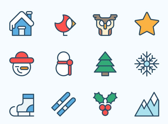 christmas icon set 25 Free Christmas themed icon sets