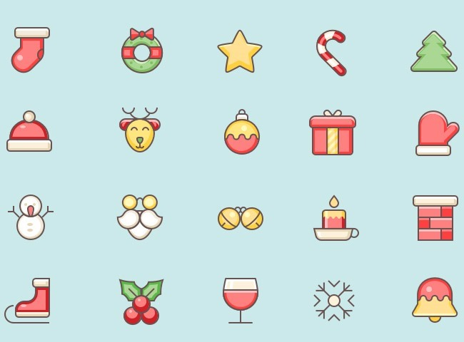 christmas icon 25 Free Christmas themed icon sets