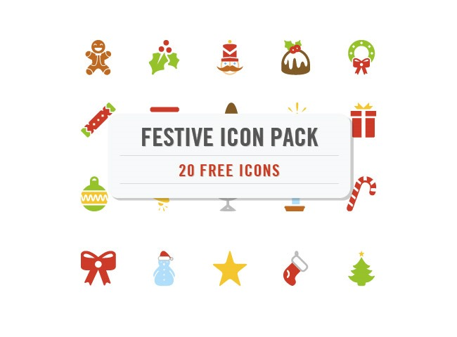 festive icons 25 Free Christmas themed icon sets