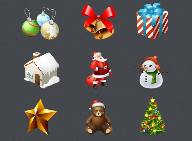 large 25 Free Christmas themed icon sets