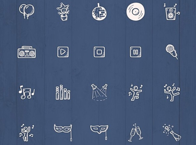 newyears 25 Free Christmas themed icon sets