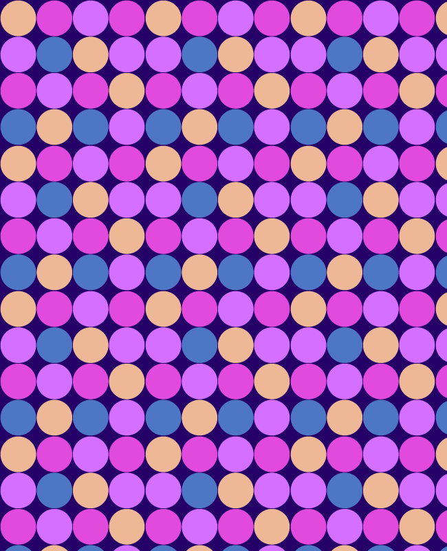 purple Colorful circle free seamless vector pattern