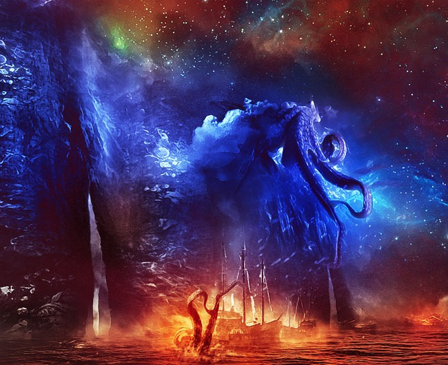 sea monster 80 best Photoshop tutorials created in 2016