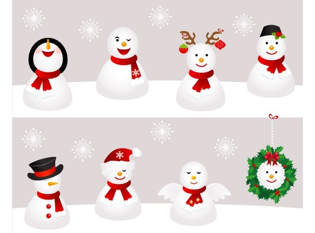 snowman 25 Free Christmas themed icon sets
