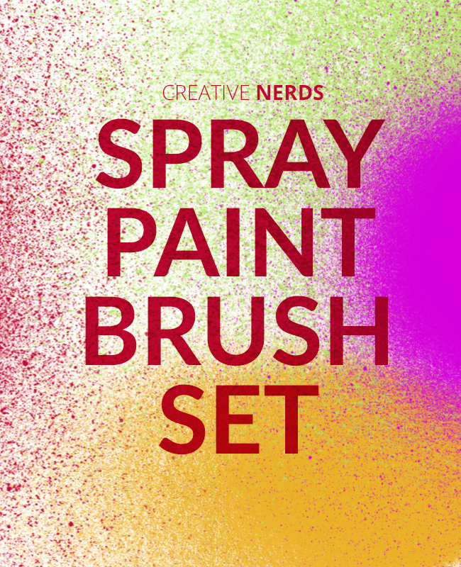 spray paint brush Spray paint high res free Photoshop brush set