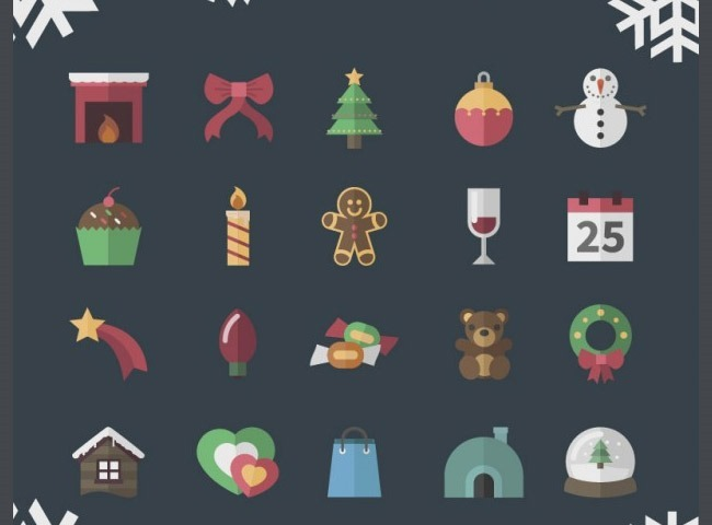 vintage 1 25 Free Christmas themed icon sets