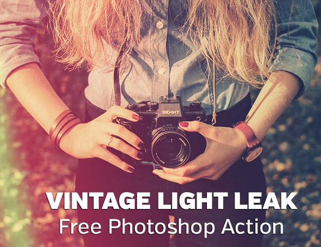 vintage light leaks 100 Must download free Photoshop actions (And everything else you should know)