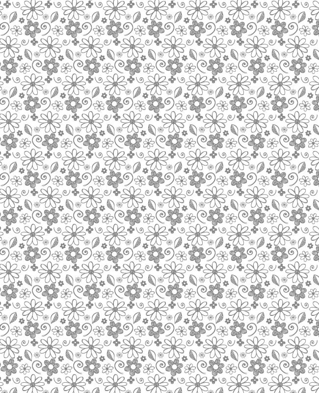 white handrawn petal pattern creative nerds Creative hand drawn petal and swirls seamless vector pattern