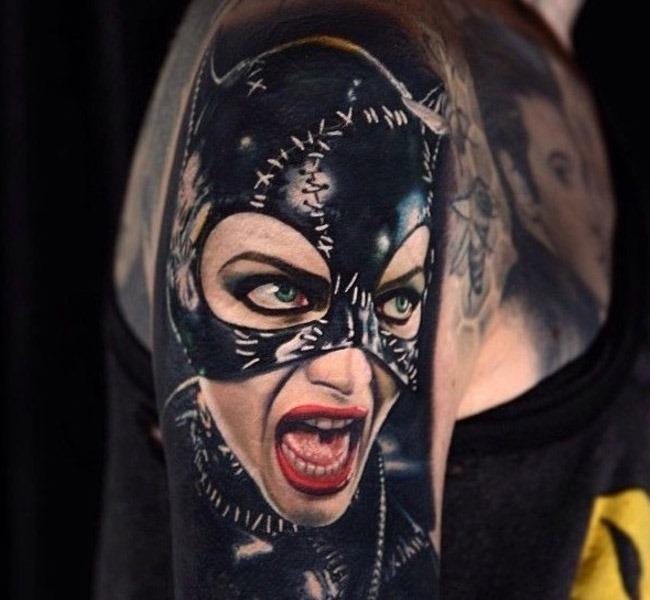 bat girl 35 Mind blowing realistic tattoo designs