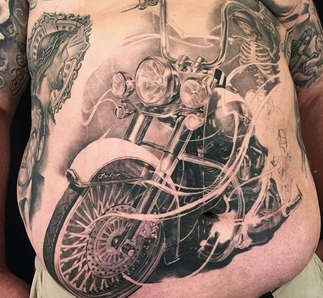 bike 35 Mind blowing realistic tattoo designs