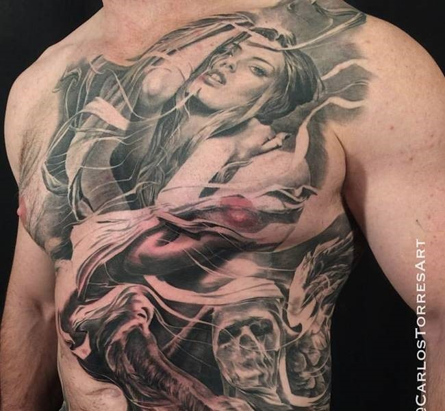 chest 35 Mind blowing realistic tattoo designs
