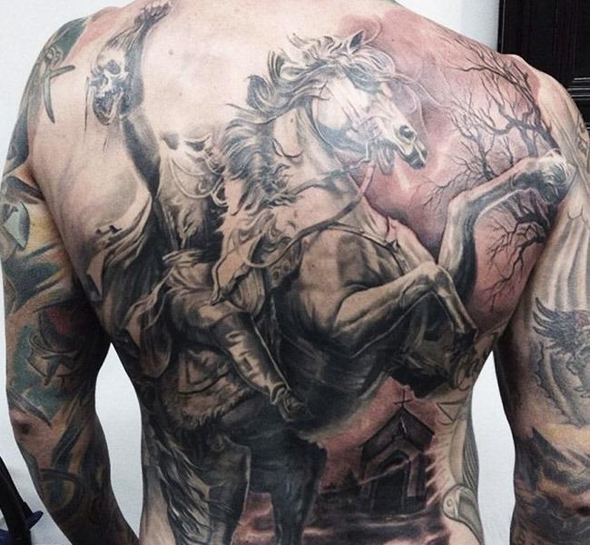 headlesshorsemen 35 Mind blowing realistic tattoo designs