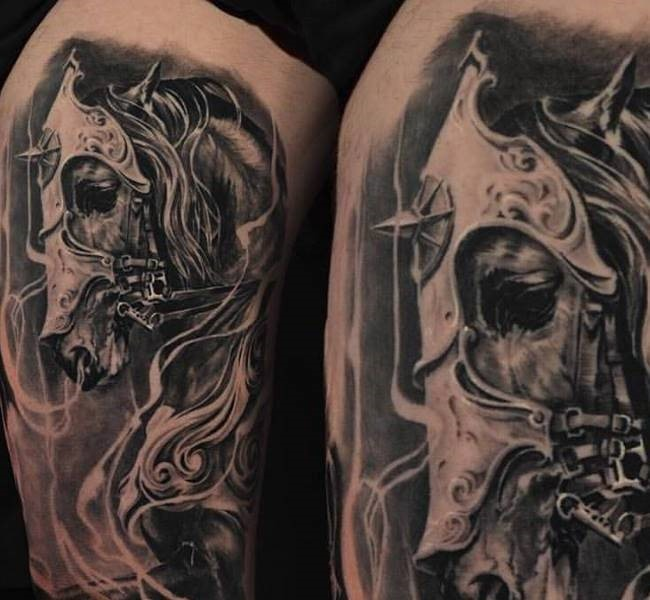 horse 35 Mind blowing realistic tattoo designs