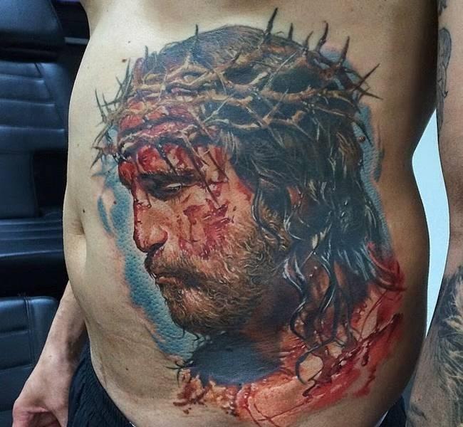 jesus 35 Mind blowing realistic tattoo designs