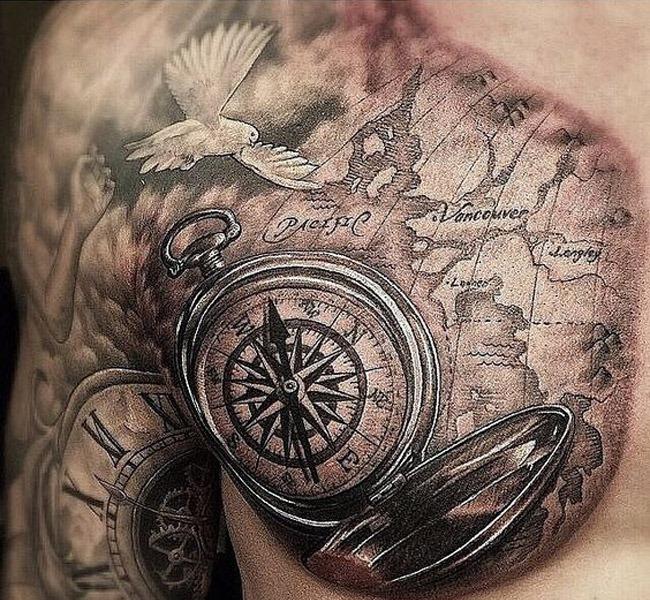 map 35 Mind blowing realistic tattoo designs