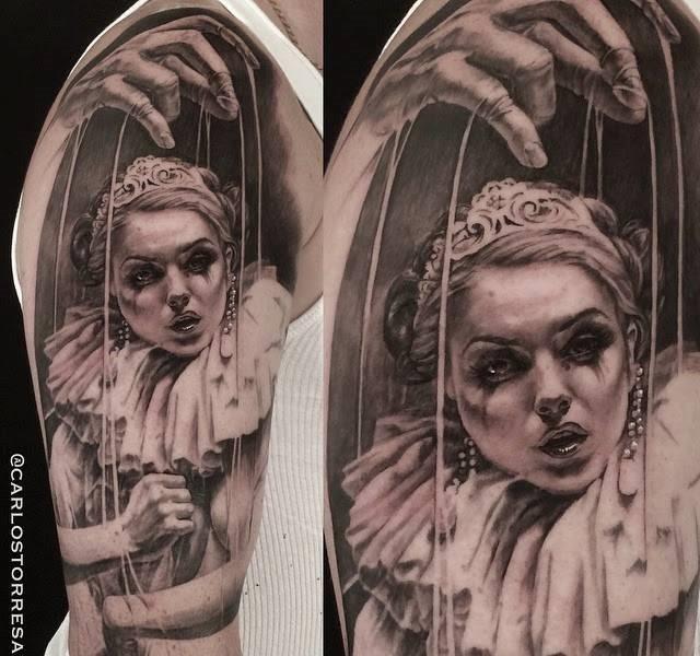 pupet 35 Mind blowing realistic tattoo designs