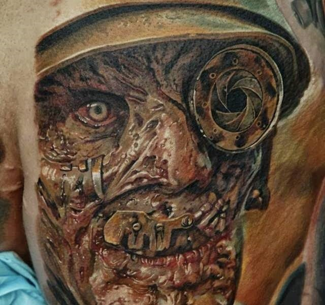 skull face 35 Mind blowing realistic tattoo designs
