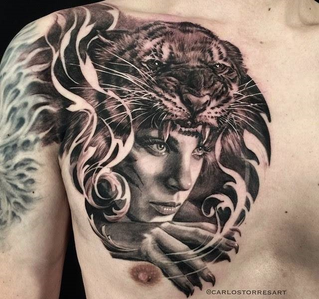 tiger face 35 Mind blowing realistic tattoo designs