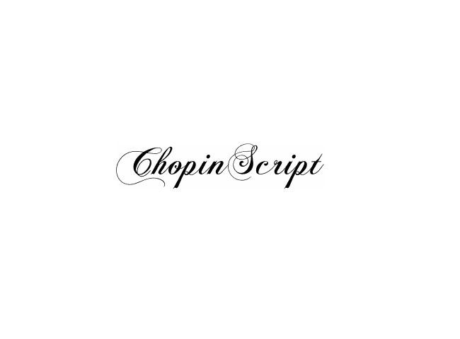 chopin 50 free must download Calligraphy fonts
