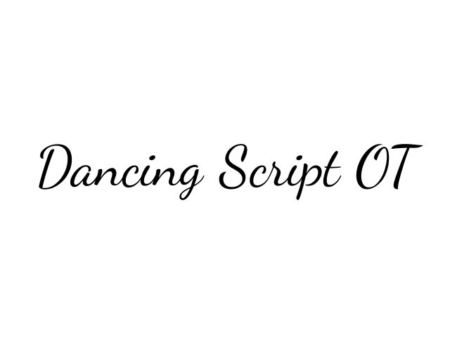 dancing script 50 free must download Calligraphy fonts