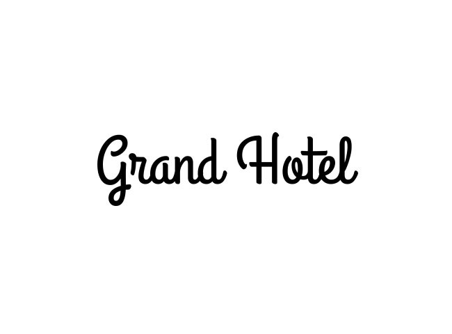 grand hotel 50 free must download Calligraphy fonts