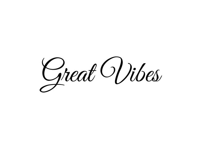 great vibes 50 free must download Calligraphy fonts