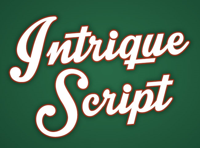 intrique script 50 free must download Calligraphy fonts