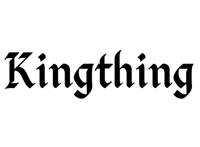 kingthing 50 free must download Calligraphy fonts