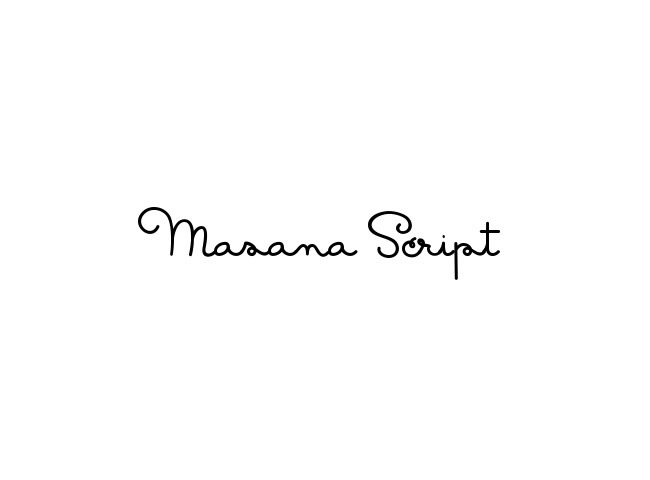 masana script 50 free must download Calligraphy fonts