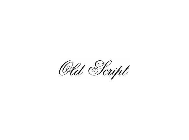 old script 50 free must download Calligraphy fonts