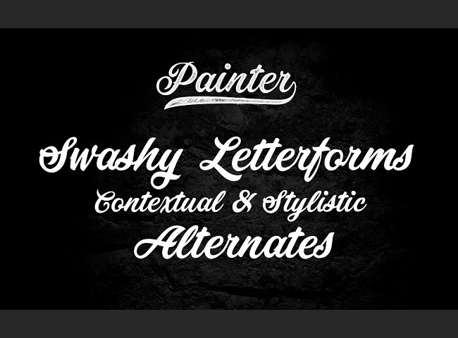 painter 50 free must download Calligraphy fonts
