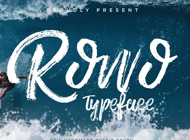 ROWO 40 fresh free fonts from 2017