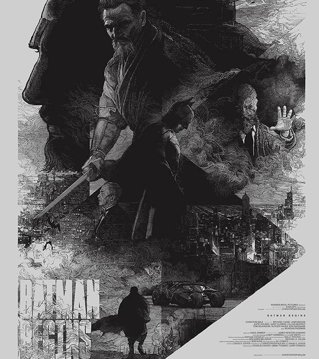 batman begins 20 epic movie poster illustration designs