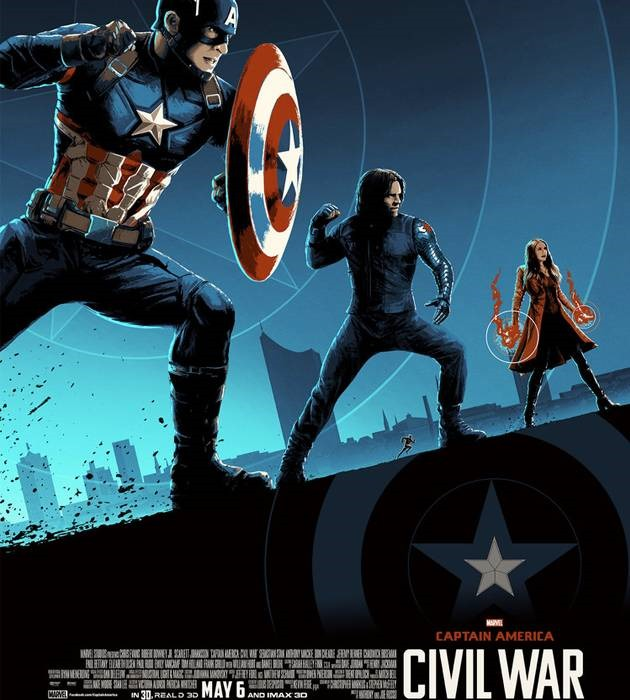 cival war 20 epic movie poster illustration designs