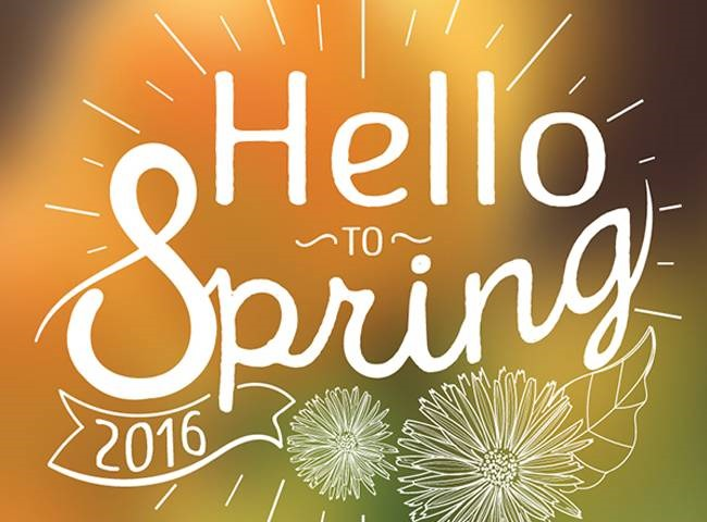 hello to spring Best of the web for Design and Web Development April 2017