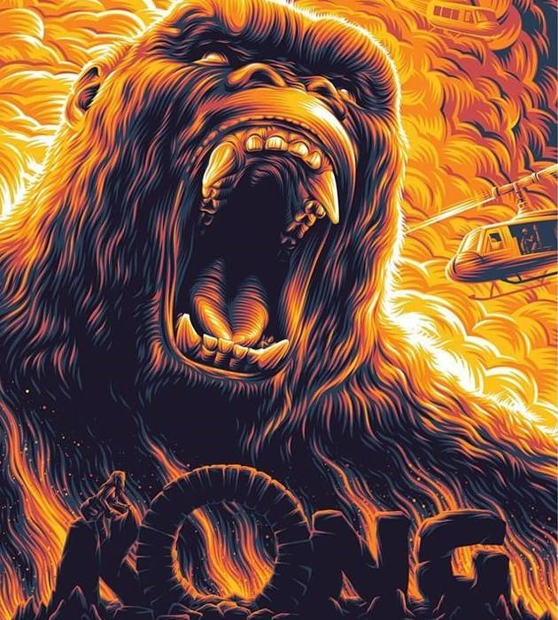 kong 20 epic movie poster illustration designs
