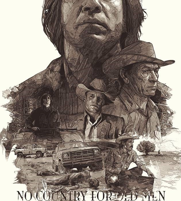 no country for old men 20 epic movie poster illustration designs