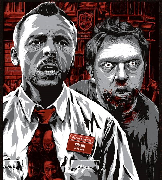 shaun of the dead 20 epic movie poster illustration designs