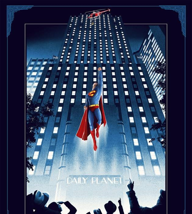 superman 20 epic movie poster illustration designs