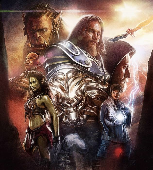 warcraft 20 epic movie poster illustration designs
