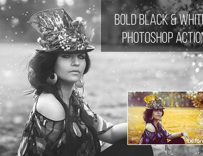 black and white bold 100 Must download free Photoshop actions (And everything else you should know)