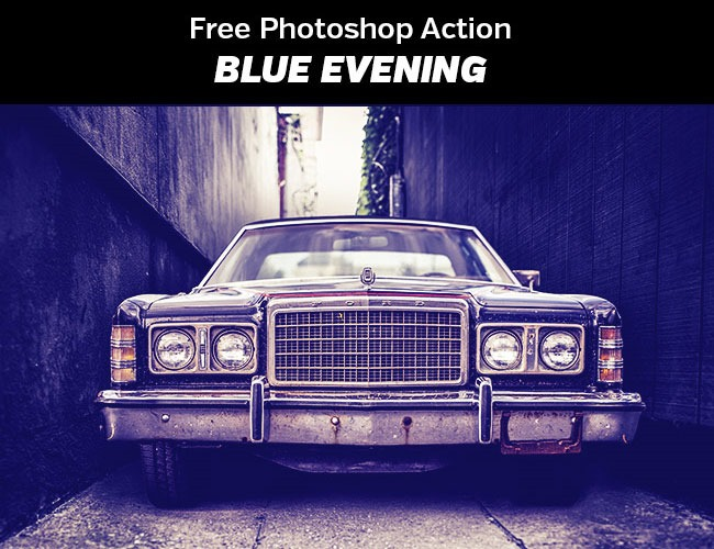 blue evening 100 Must download free Photoshop actions (And everything else you should know)