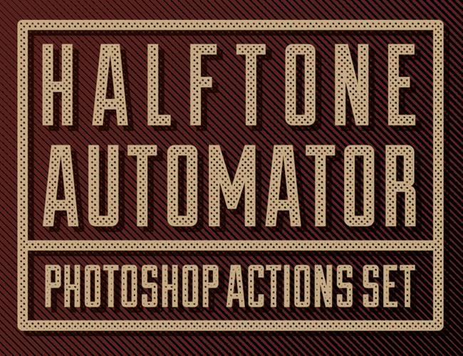 halftone 100 Must download free Photoshop actions (And everything else you should know)