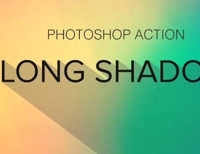 long shadow 100 Must download free Photoshop actions (And everything else you should know)