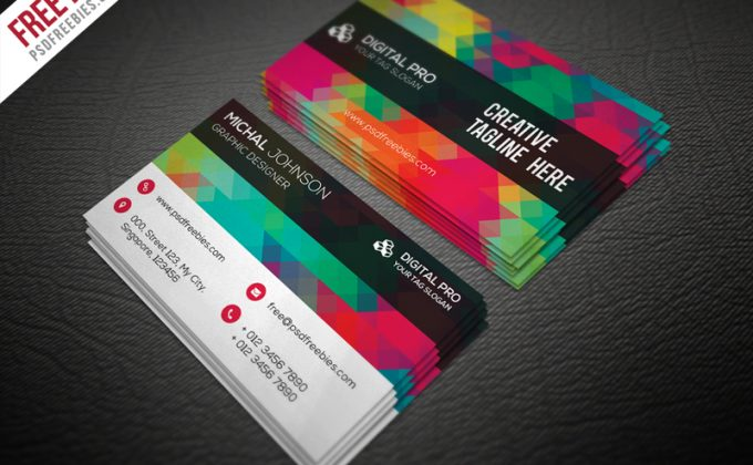 Free PSD Business Card Template Designs Creative Nerds - Free business cards templates photoshop