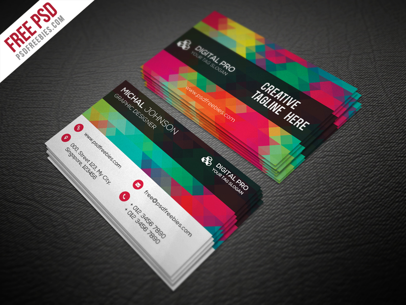 50 free psd business card template designs creative nerds wajeb Choice Image