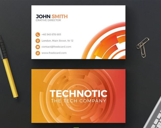 abstract buiness card 50 free PSD business card template designs