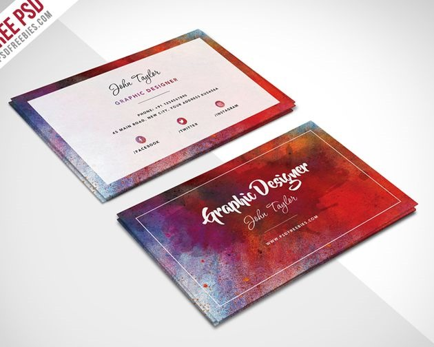 50 free psd business card template designs creative nerds abstract business card wajeb Image collections