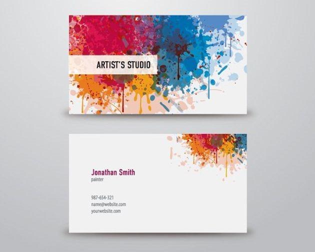 artist business card 50 free PSD business card template designs