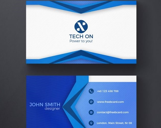 blue ribbion buisness card 50 free PSD business card template designs